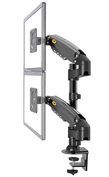 Suporte duplo nb h160 para monitores, suporte para monitores de braço e montagem de 17