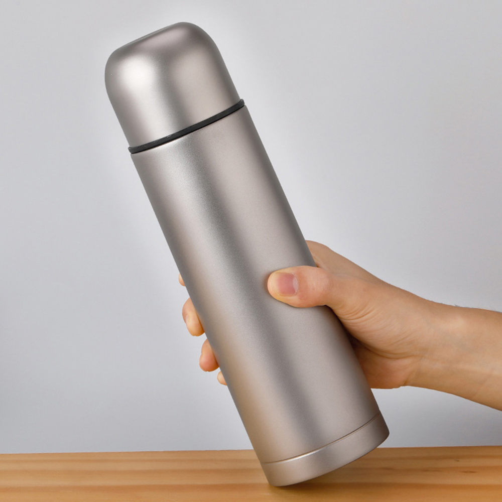 500ml Outdoor Camping Sports Tea Water Bottle Double Wall Vacuum Insulated Titanium Flask Leak Proof Water Bottle Tea Bottle