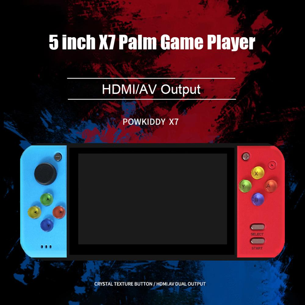 5.0 inch Color Screen Retro Handheld Game Player Video Game Console for PSP GBA FC NES Games Built in Battery Support TF Card