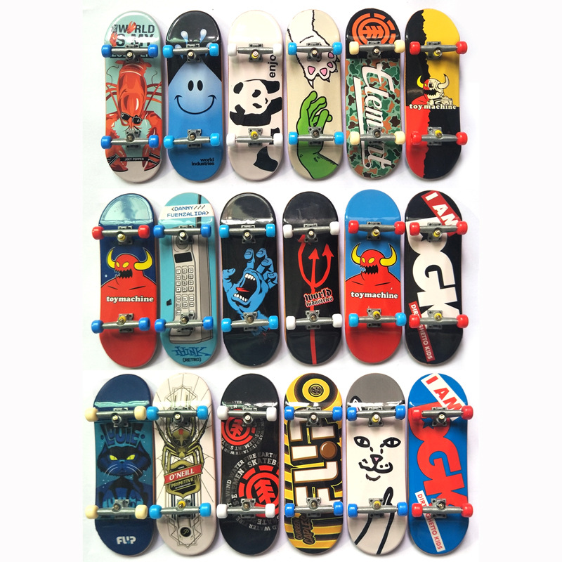 New  Size 110mm Basic  Fingerboard Professional Finger SkateBoard  Fingerboars With Bearings Wheel Foam Tape