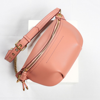 Women Waist Bag Candy Colors Yellow/green/Pink Waist Bag Metal Chain Women Waist Packs Belt Bag Leather Chest Leather Pouch Belt
