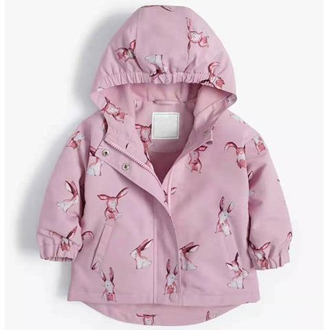 criancas criancas meninas primavera outono jaqueta com forro de la blusao com impressao de coelho