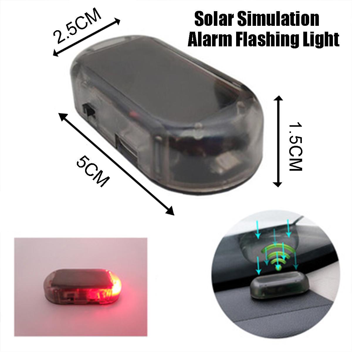 USB Предупреждение ющий Противоугонный светильник, все автомобильные сигнальные лампы, автомобильный поддельный охранный светильник на сол...