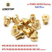ZSDTRP 12 Uds M5 hilo de #30-#135 chorros de carburador para Dellorto SHA PHBG carbohidratos inyector principal boquilla NC PHVA piloto de Jet