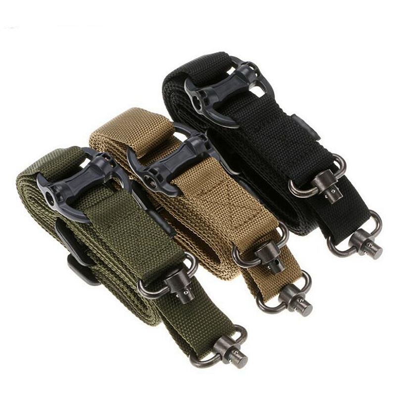 New Tactical Rope Mission Adjustable Two 2 Points Tactical Rifle Gun Sling Quick Detach QD Trap For Outdoor Nylon Belt Rope