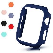 Moda matte caso protetor para apple watch se capa série 6 5 4 3 pc amortecedor 40mm 44mm 38mm 42mm escudo duro para iwatch quadro