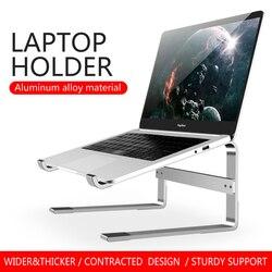 Support de bureau pour ordinateur portable, accessoire en aluminium, pour Macbook Air, iPad Pro, Dell HP, Lenovo, Xiaomi, pour tablettes et PC
