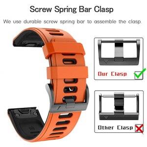 Image 4 - 26 22Mm Quickfit Horloge Band Strap Voor Garmin Fenix 6 6X Pro Siliconen Easyfit Polsband Fenix 5X Plus 3HR Smart Accessoires