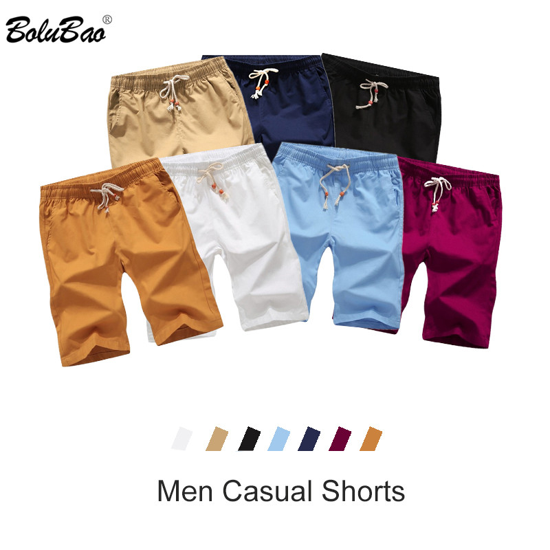BOLUBAO Brand Men Solid Short Summer New Men's Drawstring Casual Short Comfortable Breathable Shorts Male
