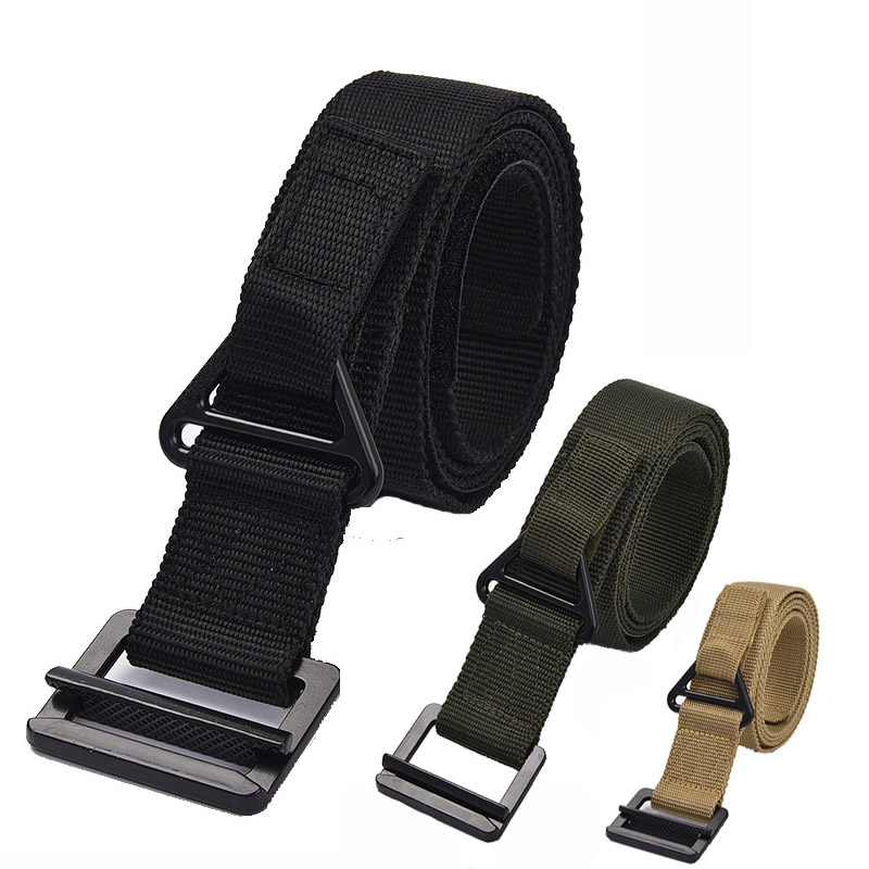 Army Tactical Belt Military Waistband Nylon Belt Men Heavy Duty Combat Training Waist Belt With Metal Buckle Hunting Accessories