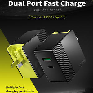 Image 2 - ROCK 30W Dual Port Fast Charge for EU US UK Mobile Phone Charger PD3.0 QC4.0 FCP SCP Quick Charge for iPhone X 8 Huawei P20 P30