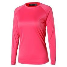 Jeansian Womens UPF50 + UV Outdoor Sport Tee Shirt T-Shirt Tshirt Long Sleeve Beach Summer SWT246 Red2