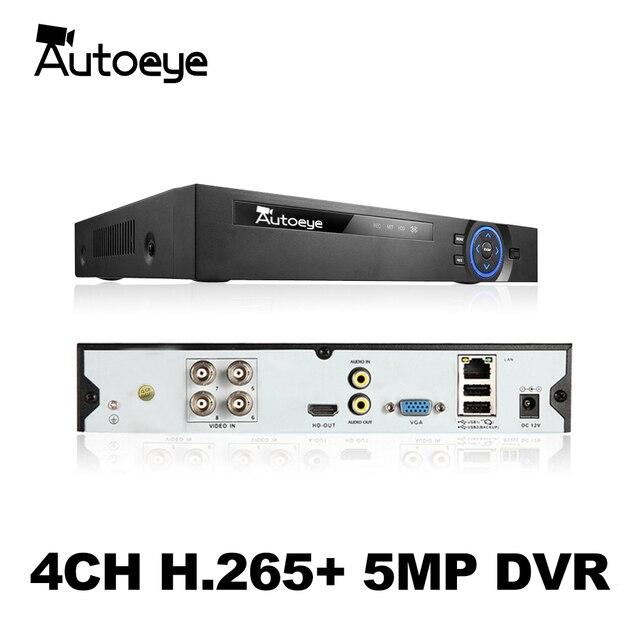 Autoeye 6in1 H.265 + 4ch цифровые гибридные видеорегистраторы для AHD TVI CVI 5MP 4MP 1080P 720 Камера рекордер наружного наблюдения NVR IP Камера Xmeye Onvif CCTV DVR