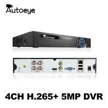 Autoeye 6in1 H.265 + 4ch HYBRID DVR für AHD TVI CVI 5MP 4MP 1080P 720P Kamera CCTV Recorder NVR IP KAMERA Xmeye Onvif CCTV DVR