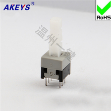 15PCS KFT-8.5x8.5 long head push switch 250v momentary action lock 6 Pin self-locking reed 8.5x8.5mm