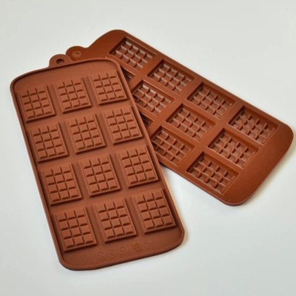 Silikon Mini çikolata blok Bar kalıp kalıp buz kalıbı kek dekorasyon pişirme kek jöle şeker aracı DIY kalıpları mutfak aracı