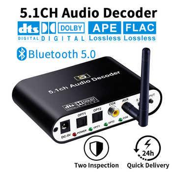 DA615 5,1 CH Audio Decoder Bluetooth 5,0 Reciever DAC Wireless Audio Adapter Optische Koaxial AUX USB disk spielen DAC DTS AC3 FLAC