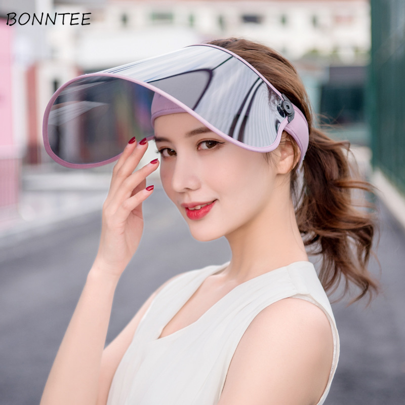 Sun Hats Women Riding Driving UV Protection Large Brim Summer Face Sunscreen Chic Cap Womens Empty Top Adjustable Beach Outside