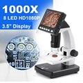 SeeSii 3 5 дюймов 1080P портативный Настольный увеличительный микроскоп профессиональный 1000X цифровой микроскоп с ЖК-дисплеем до 32G Micro Card