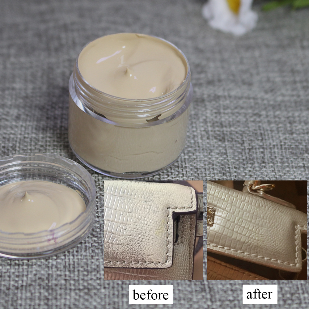 Beige Leather Paint Leather Care Restoration Complementary Color Change Paint for Clothes Shoe Cream Acrylic Paint 30ml