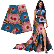 Ankara African polyester prints batik patchwork fabric real dutch wax high quality Africa sewing material 6yards for party dress