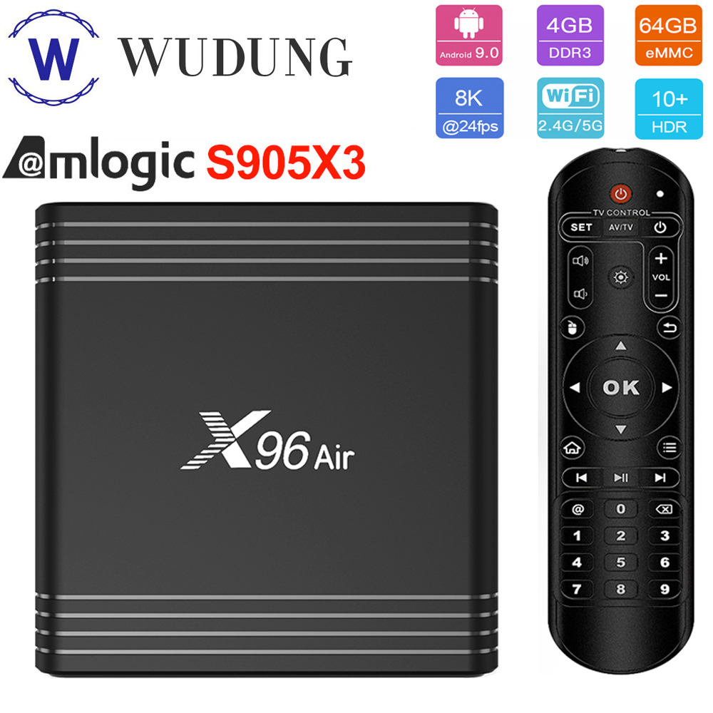 X96 Air Amlogic S905X3 Android 9.0 Smart TV BOX 4G 64GB 32GB Dual Wifi 1080P 4K 60fps 4K HD Online Home Media Player Set-Top-Box
