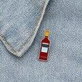 Эмалированные булавки Campari в виде ликера, красная мини-брошь, значок на лацкан из джинсовой ткани, ювелирные изделия, подарки для женщин и му...