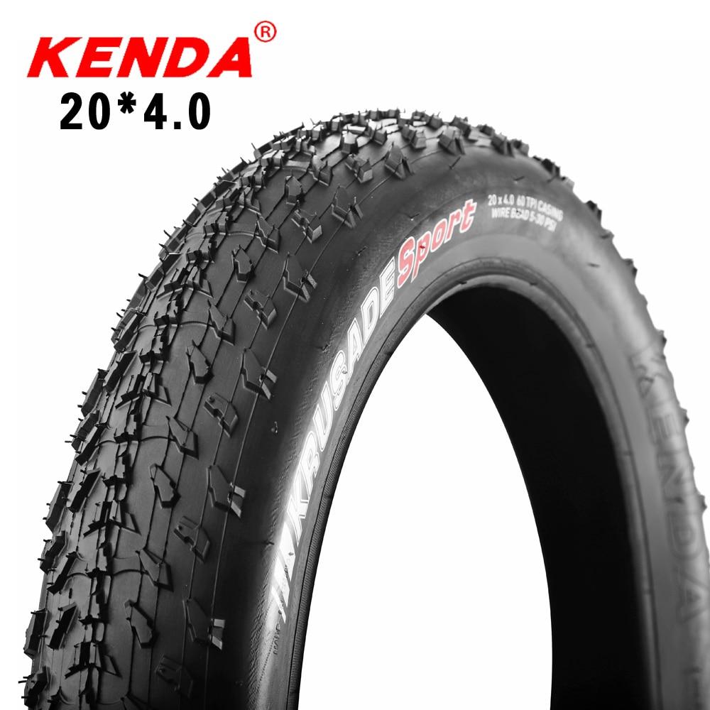 Велосипедные шины KENDA для квадроциклов, шины для пляжного велосипеда 20*4,0, городские толстые шины, снежные велосипедные шины 60TPI, сверхлегкие...