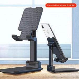Image 1 - יוניברסל Tablet טלפון מחזיק שולחן עבור iPhone שולחן העבודה Tablet Stand עבור טלפון סלולרי שולחן מחזיק טלפון נייד פולד סטנד הר