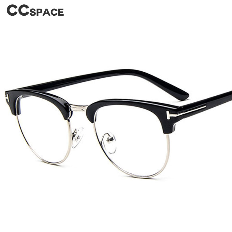 47103 Round Glasses Frames Men Women Metal Half Frame Optical Fashion Computer Glasses