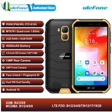 Ulefone Armor X7 Android 10 IP68 robuste étanche Smartphone 2GB 16GB Quad core NFC 4G LTE téléphone portable visage déverrouillage téléphone portable