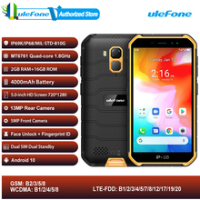 Ulefone armor x7 android 10 ip68 áspero à prova dip68 água smartphone 2gb 16gb quad core nfc 4g lte celular face desbloquear telefone celular