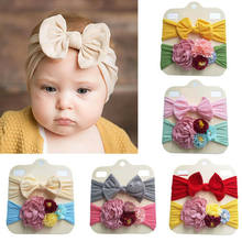 2pcs Baby Toddler Girls Kids Bunny Rabbit Bow Knot Turban Headband Hair Band(China)