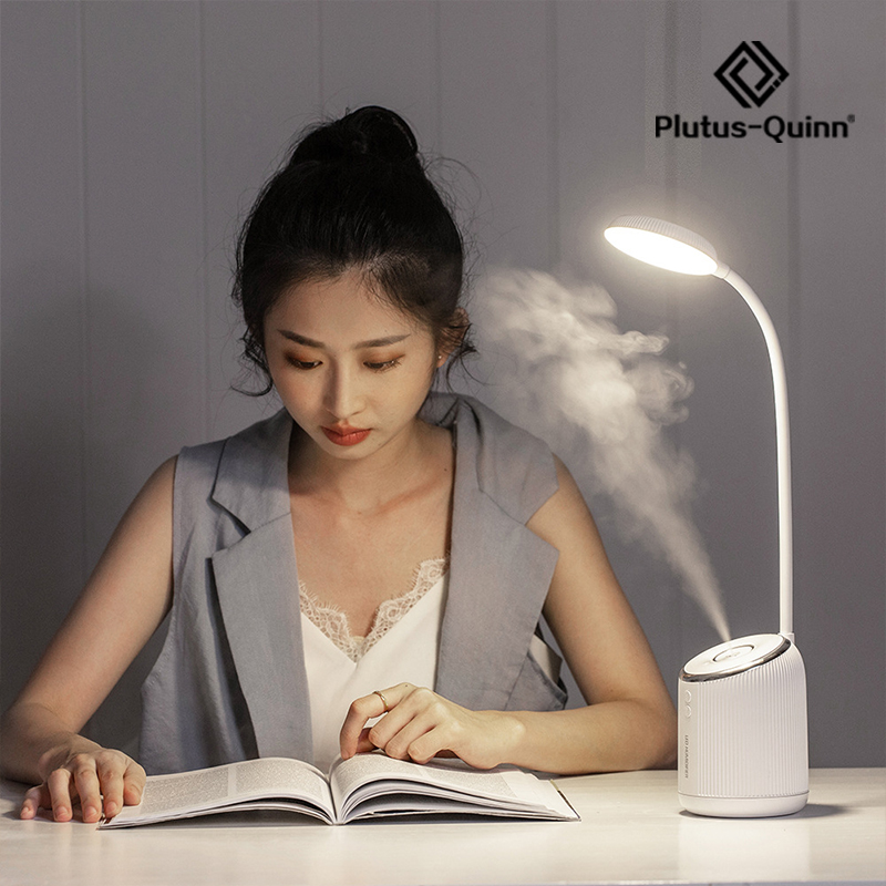 2020 New Two-In-One Humidifier Led Table Lamp Eye Protection Adjust Brightness USB Rechargeable Desk Lamp For Reading Working