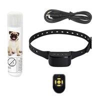 Dog Traning Supplies Spray Bark Collar Anti Bark Device Adjustable Battery Dog Collar with Spray Pet Supply