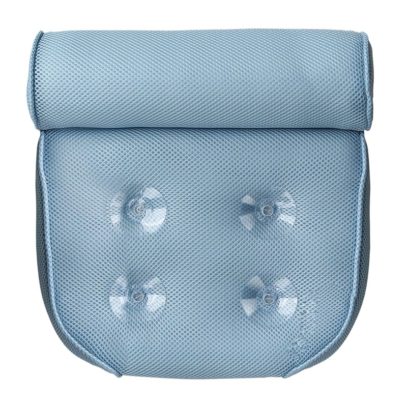 Bath Pillow for Bathtub Hot Tub Jacuzzi and Home Spa Non-Slip Luxury Support for Head, Neck, Back and Shoulders 4 Strong Suction