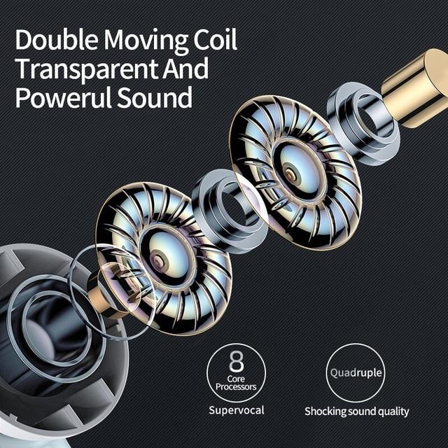 Bluetooth 5.0 True Wireless Earbuds with Charging Box Waterproof Earphone Volume Control Mini TWS Headphone Handsfree for Sports 3