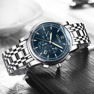 Image 3 - 2018 nowe zegarki DOM mężczyźni zegarek luksusowy chronograf mężczyźni sport zegarki wodoodporny pełny stalowy zegarek kwarcowy męski Relogio M 75D 1MPE