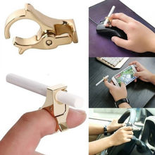 New Smoking Smoking Cigarette Holder Male Finger Prevention Smoked Ring new arrived Household products(China)