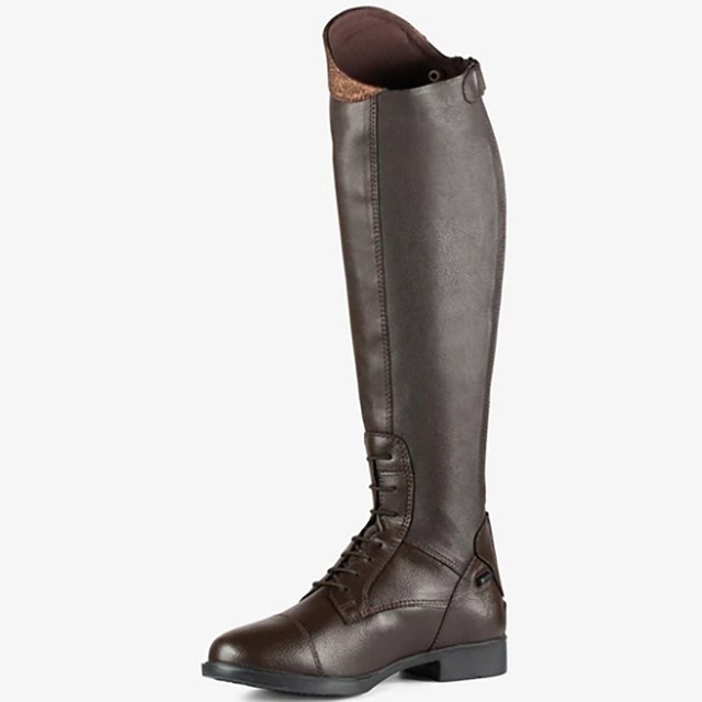 Womens Winter Retro Slip On Equestrian Riding Boots 4