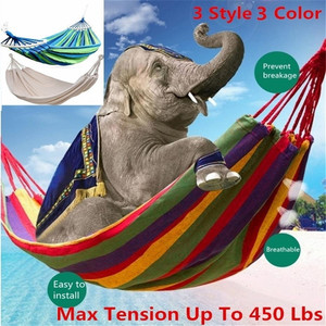 Image 2 - Outdoor Double Canvas Hammock Portable Travel Camping Hanging Chair Swing Chair Hammock Tent Free Shipping