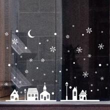 Boże narodzenie śniegu gwiazdy dom dla dzieci naklejki ścienne do dekoracji domu ścienne dla dzieci naklejka Art dla dzieci naklejki ścienne 820 tanie tanio Jednoczęściowy pakiet Naklejka ścienna samolot Nowoczesne 1 Pcs Naklejki okienne WALL Festival 1PC Wall stickers