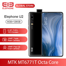 "ELEPHONE U2 MT6771T Octa Core 6GB 128GB Mobile Phone 16MP Pop-Up Dual Cam 6.26"" FHD+ Screen Face ID 4G LTE Android 9 Smartphone(China)"