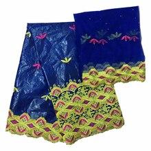 Базен riche getzner brode африканская ткань тюлевые ткани для платья материал для ремесел нигерийская Кружевная повязка на голову 5+ 2 ярдов/партия