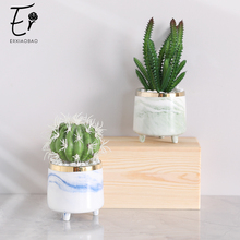 Erxiaobao Fake Cactus Artificial Plants with Pot Simulation Succulent Fleshy Small Potted Living Room Table Decoration