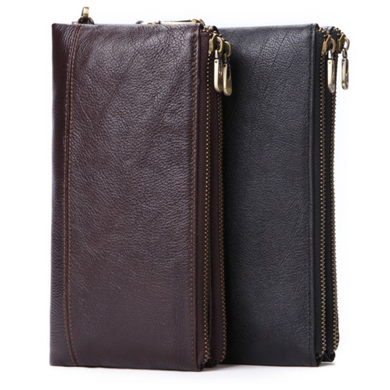 Men's Wallet Genuine Leather Male Wallet Mini Bag Casual Design Money Bag Male Hasp Vintage Card Holder Coin Purse Men Wallets