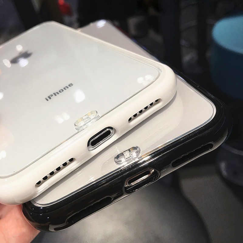 Lovebay 耐震バンパー透明シリコーン電話ケース iphone 11 Pro X XR XS 最大 8 7 6 6S プラスクリアソフト Tpu バックカバーケース