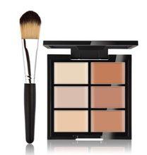 Palette de maquillage professionnel 6 couleurs, correcteur naturel de marque, crème pour le visage, kit de maquillage cosmétique, poudre de contour, vente en gros