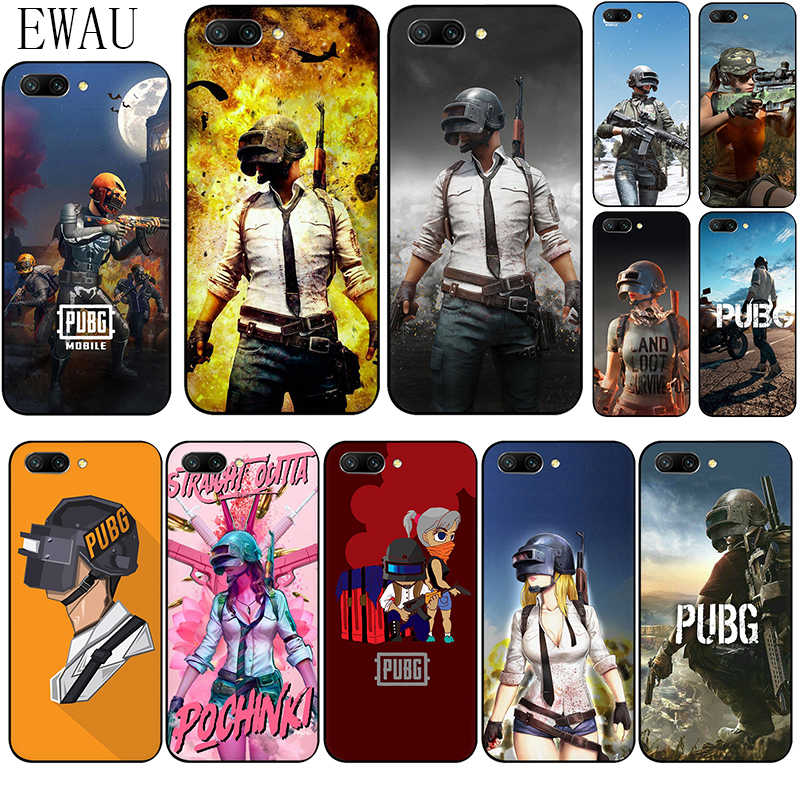 EWAU PUBG Mobile Silicone phone case for Huawei Honor 6A 7A Pro 7C 7X 8X 8C 8 9 Note 10 Lite view 20 9X Pro 8A 20S