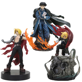 Anime Fullmetal Alchemist Figure toy Edward Elric Roy Mustang DXF PVC Action Figure Collection Brinquedos 16-23cm